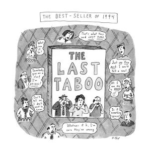 THE LAST TABOO - New Yorker Cartoon by Roz Chast