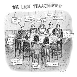 The Last Thanksgiving - New Yorker Cartoon by Roz Chast