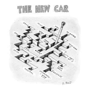 The New Car - New Yorker Cartoon by Roz Chast