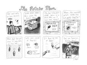The Potato Man - New Yorker Cartoon by Roz Chast