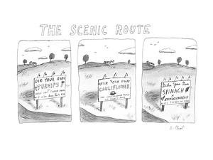 The Scenic Route - New Yorker Cartoon by Roz Chast