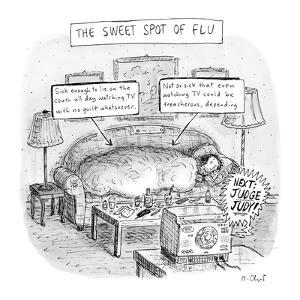 The Sweet Spot of Flu - New Yorker Cartoon by Roz Chast