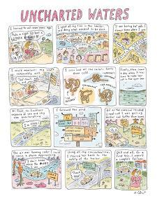 'Uncharted Waters' - New Yorker Cartoon by Roz Chast