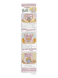 Valentines from Bill - New Yorker Cartoon by Roz Chast