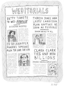 Weditorials - New Yorker Cartoon by Roz Chast