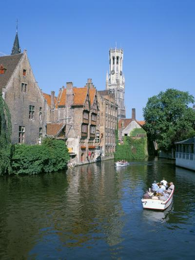 Rozenhoedkai and Belfried, Bruges (Brugge), Unesco World Heritage Site, Belgium-Hans Peter Merten-Photographic Print