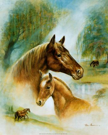 Brown Mare and Fowl