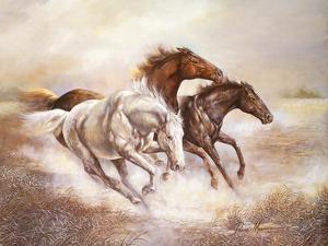 Wild Horses I by Ruane Manning