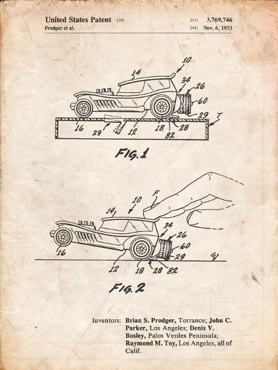 Rubber Band Toy Car Patent-Cole Borders-Art Print
