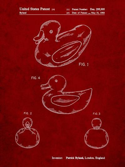 Rubber Ducky Patent-Cole Borders-Art Print