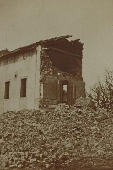 Rubble of a Bombed Farm--Photographic Print