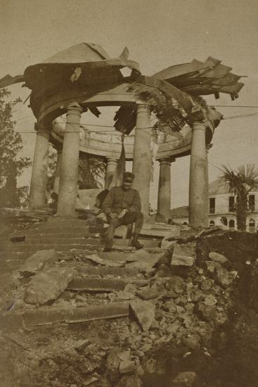 Rubble of the Kiosk Villa Castelnuovo after a Bombing--Photographic Print