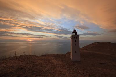 Rubjerg Knude Fyr (Lighthouse) Buried by Sand Drift at Sunset-Stuart Black-Photographic Print