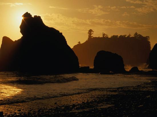 Ruby Beach at Sunset, Olympic National Park, USA-Nicholas Pavloff-Photographic Print