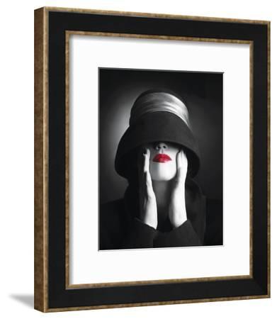 Ruby Lips III--Framed Art Print
