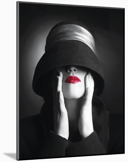 Ruby Lips III--Mounted Art Print