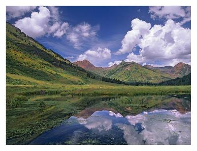 Ruby Range reflected in lake Gunnison National Forest, Colorado-Tim Fitzharris-Art Print