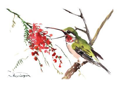 Ruby Throated Hummingbird-Suren Nersisyan-Art Print