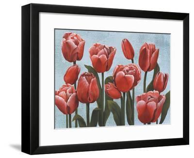 Ruby Tulips II-Grace Popp-Framed Art Print