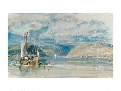 Rudesheim, View of the Binger Loch, 1817-J^ M^ W^ Turner-Giclee Print