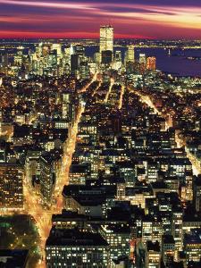 Aerial Night Shot of NYC by Rudi Von Briel