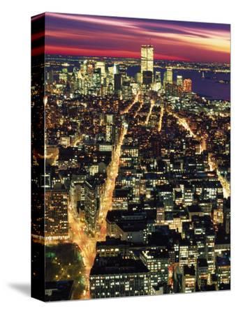 Aerial Night Shot of NYC
