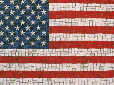 American Flag in Mosaic by Rudi Von Briel