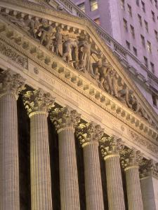 Architectural Detail of Stock Exchange, NYC by Rudi Von Briel