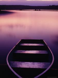 Boat on Otter Lake, Poconos, PA by Rudi Von Briel