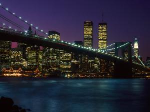 Brooklyn Bridge and Lower Manhattan, NY by Rudi Von Briel