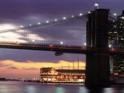 Brooklyn Bridge and South Street Seaport, NYC