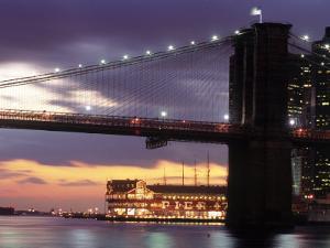 Brooklyn Bridge and South Street Seaport, NYC by Rudi Von Briel