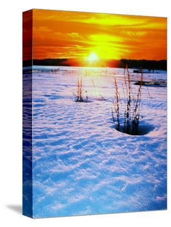 Catskills, Ny, Snow Sunset