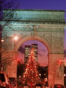 Christmas Tree in Washington Square Arch, NYC by Rudi Von Briel