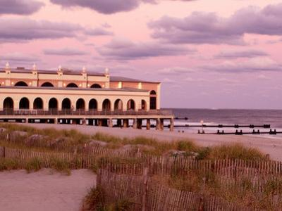 Dunes and Music Pier, Ocean City, NJ by Rudi Von Briel