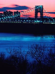 George Washington Bridge, Hudson River, NY by Rudi Von Briel