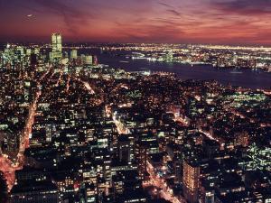 Manhattan South, from Empire State Building, NYC by Rudi Von Briel