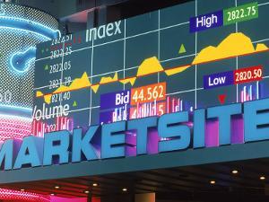 Marketsite Sign at Nasdaq, NYC, NY by Rudi Von Briel