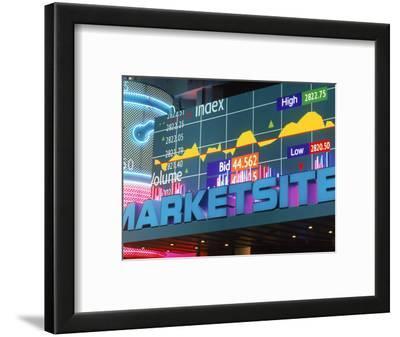 Marketsite Sign at Nasdaq, NYC, NY