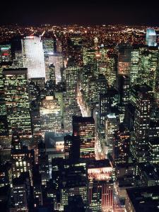Midtown and North from Empire State Building, NYC by Rudi Von Briel
