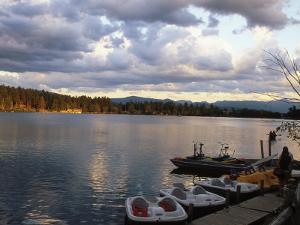 Mirror Lake, Lake Placid, Adirondacks by Rudi Von Briel