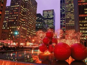 New York City at Christmas at Night, NY by Rudi Von Briel