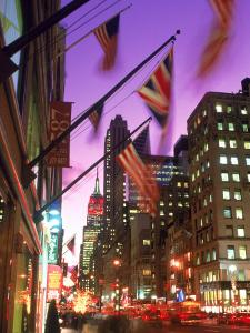 NYC, Fifth Avenue Flags by Rudi Von Briel