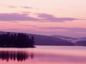 Sunset, Adirondack Lake, NY by Rudi Von Briel