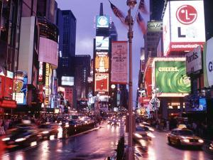 Times Square at Night, NYC, NY by Rudi Von Briel