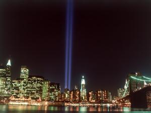 World Trade Center Memorial Lights, New York City by Rudi Von Briel