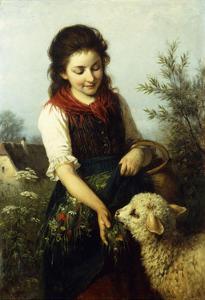 Feeding the Lamb by Rudolf Epp