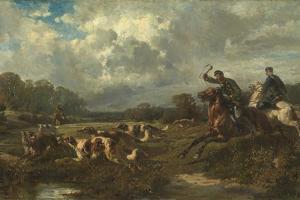 Grand Duke Vladimir Alexandrovich of Russia (1847-190) on a Wolf Hunt by Rudolf Ferdinandovich Frenz