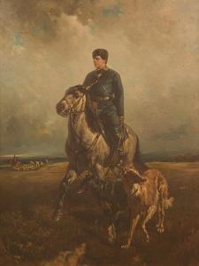 Grand Duke Vladimir Alexandrovich of Russia (1847-190) on the Hunt, 1890S by Rudolf Ferdinandovich Frenz