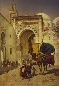 An Arab Street Scene by Rudolf Gustav Muller Wiesbaden